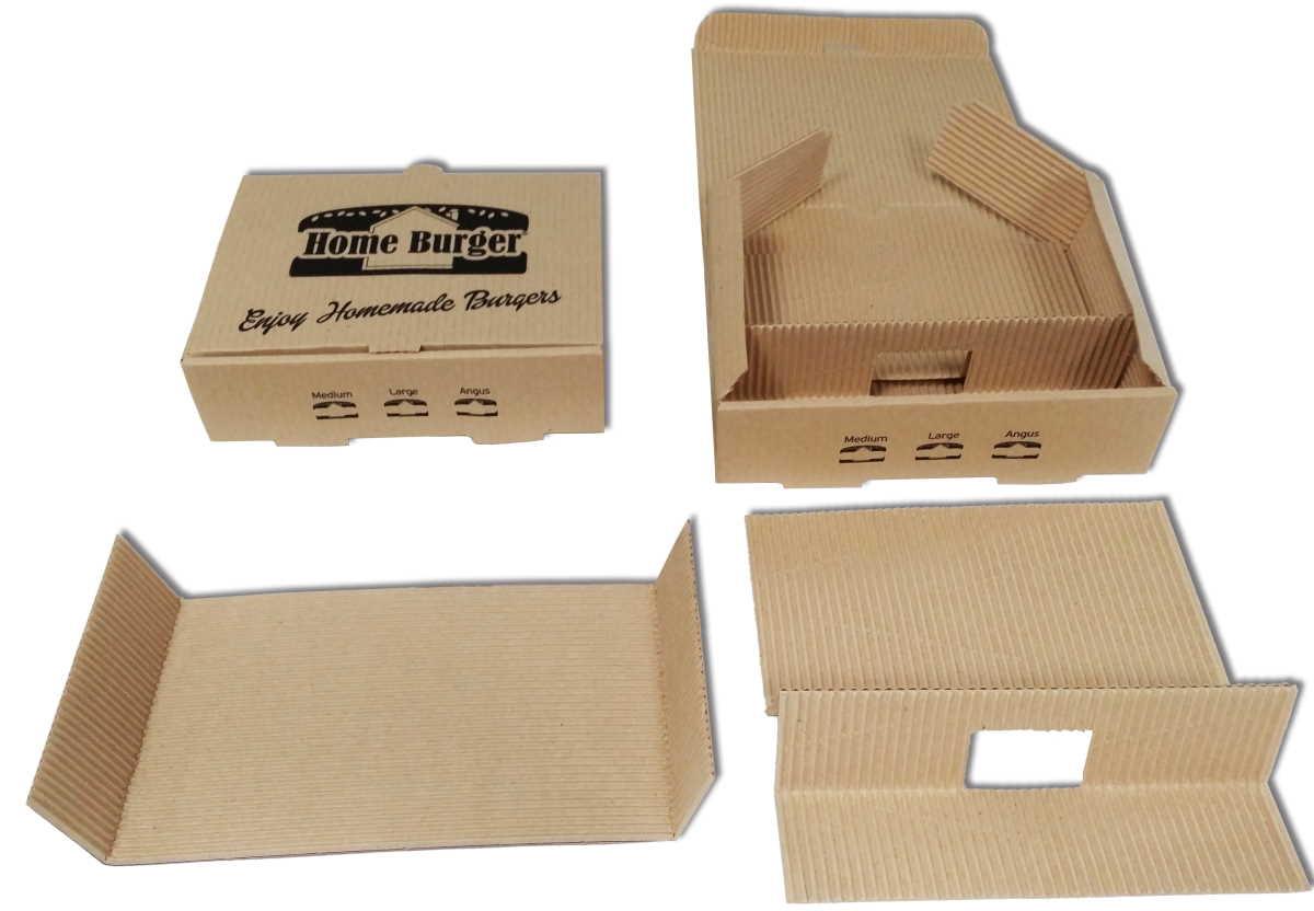 Burger box deconstructed