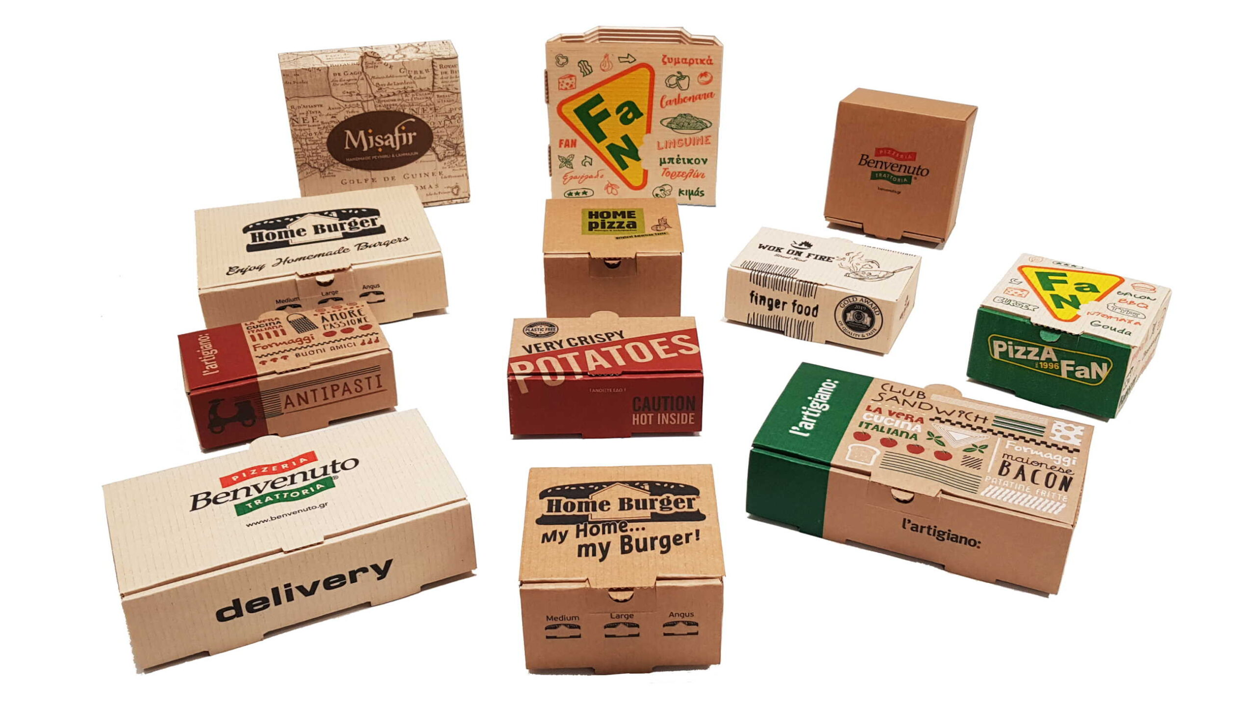 famous printed packages
