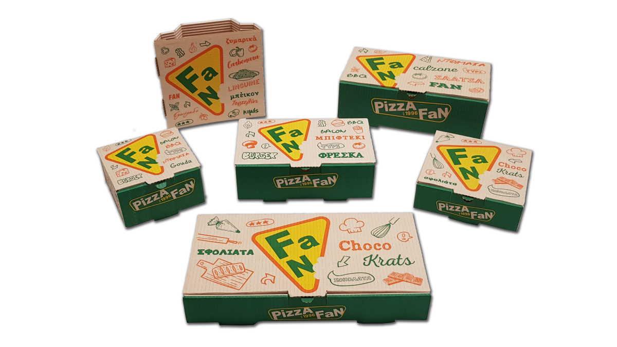 Pizza Fan different boxes